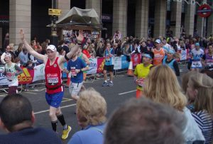 Senior Orkney Athletic Club member, Gary Tait running in the 2017 London Marathon